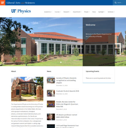 Screenshot of Physics theme header.
